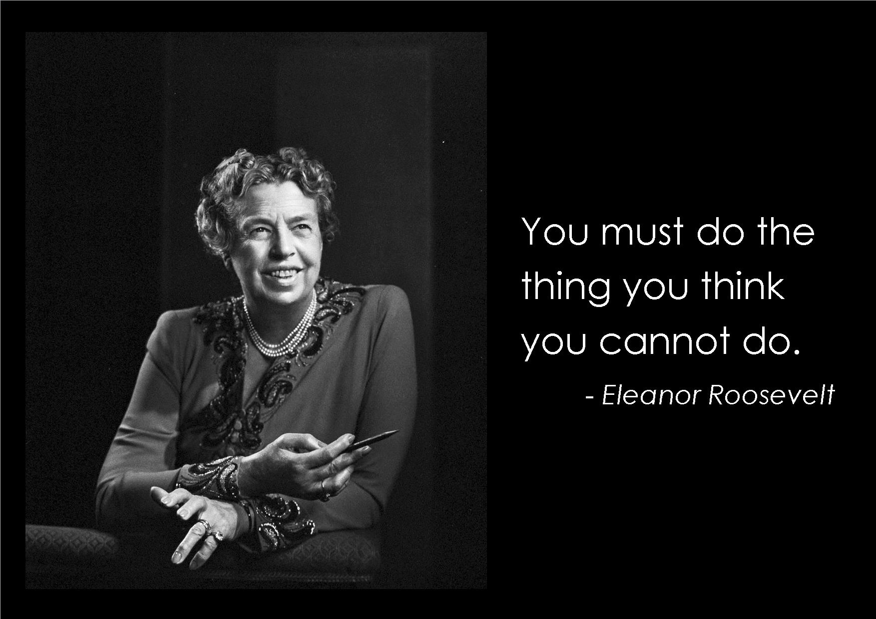 Franklin D Roosevelt Quotes Top 184 Most Inspiring Eleanor Roosevelt Quotesquotesurf