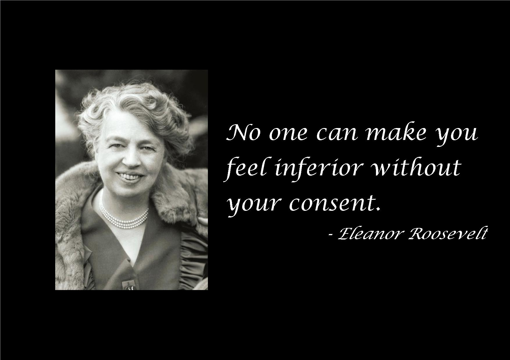 Pax on both houses: Eleanor Roosevelt