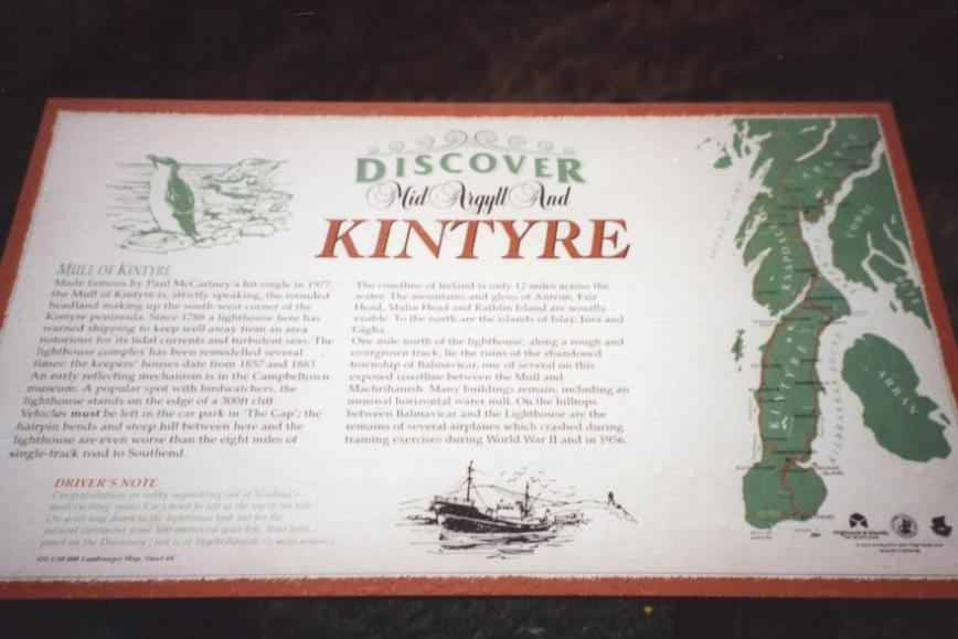 Mull of Kintyre sign