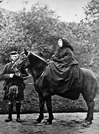 Queen Victoria & John Brown at Balmoral Photograph taken by George Washington Wilson in 1863 (Public Domain)