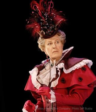 Geoffrey Rush as Lady BRacknell Melbourne Theatre Company 2011 Photo: Jeff Busby
