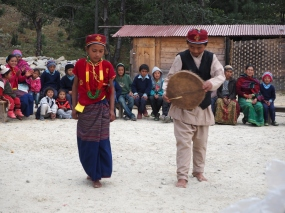 Traditional dance from the Tamang people