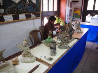 Sculpture at the Art & Craft School in Thimphu
