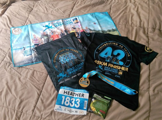 The full marathon prize haul