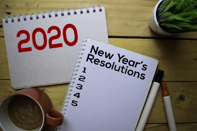 2020 new year resolution